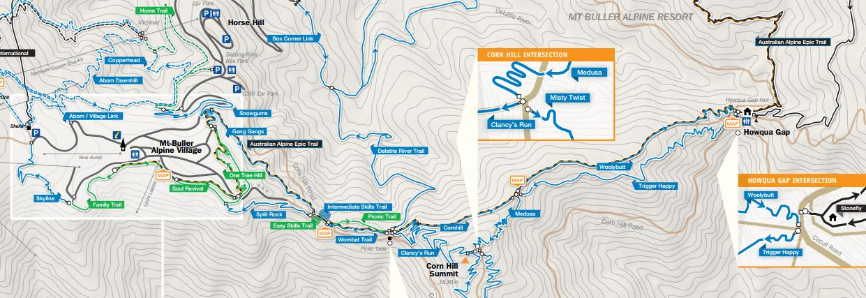 Mountain Bike Trail Map
