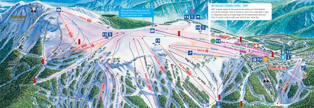Mt Buller Map Mt Buller   Resort Maps